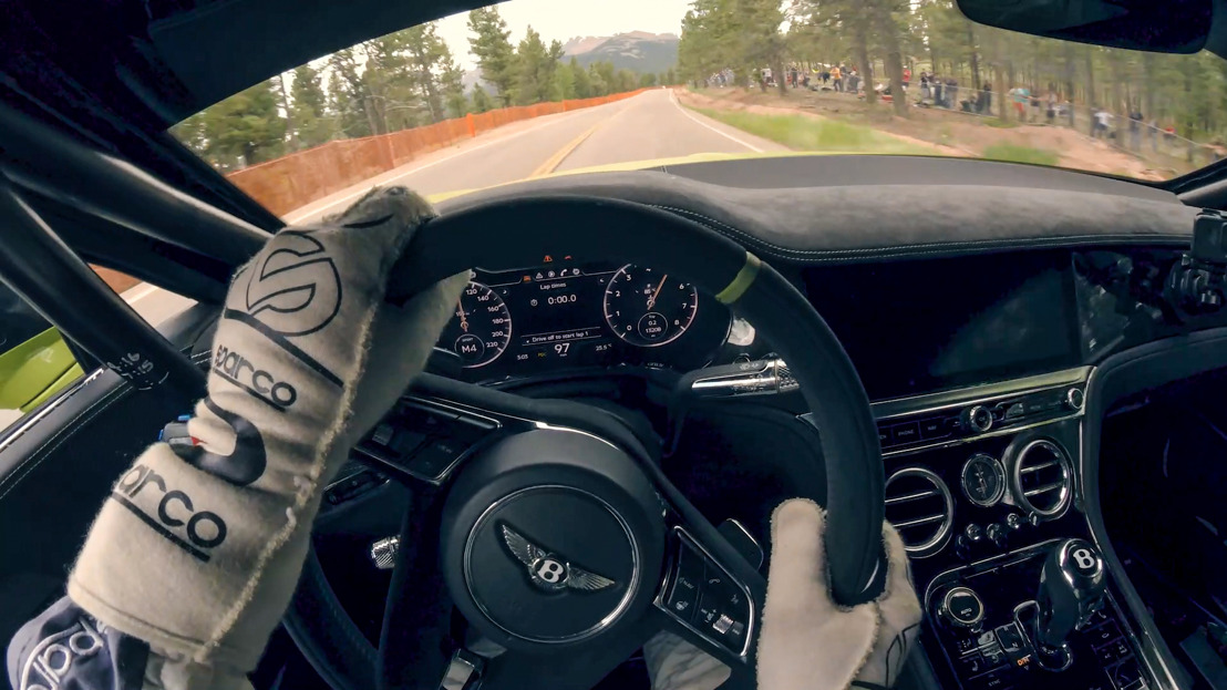RIDE ON BOARD THE RECORD-SETTING BENTLEY CONTINENTAL GT AT PIKES PEAK INTERNATIONAL HILL CLIMB