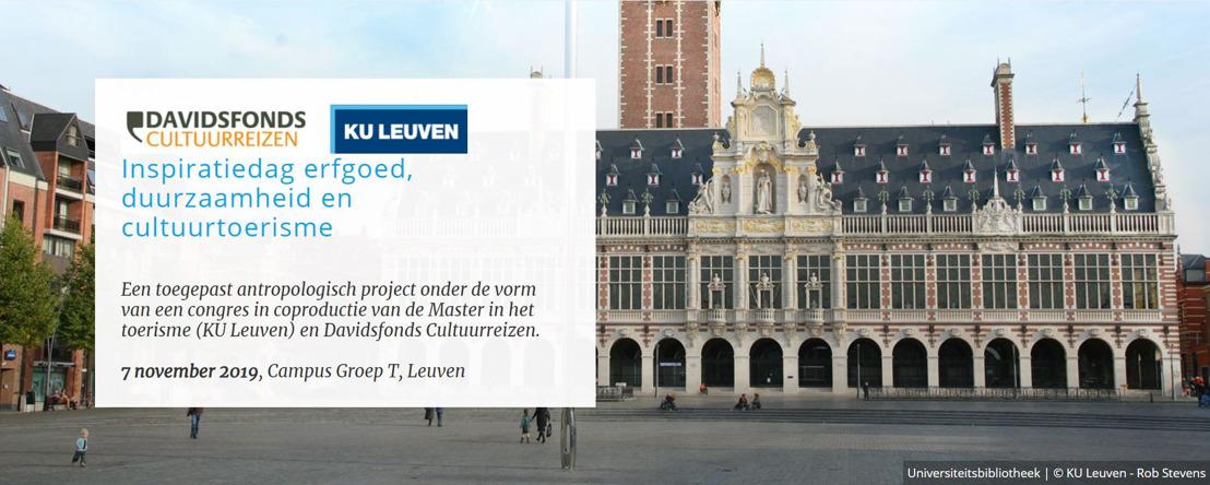 Davidsfonds Cultuurreizen en KU Leuven organiseren samen Inspiratiedag erfgoed, duurzaamheid & cultuurtoerisme