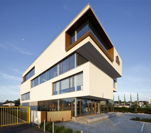 Construction du centre d'innovation « De grote beer » à Beernem