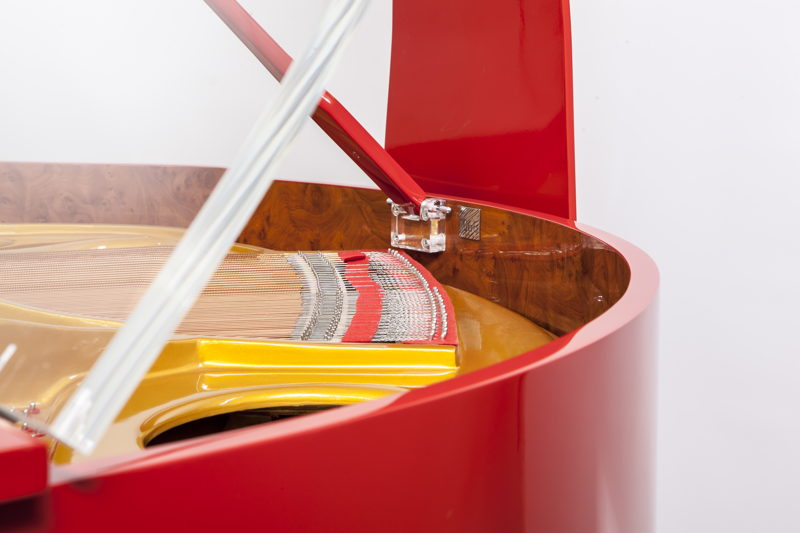 Edelweiss self-playing pianos are available in hundreds of colours.