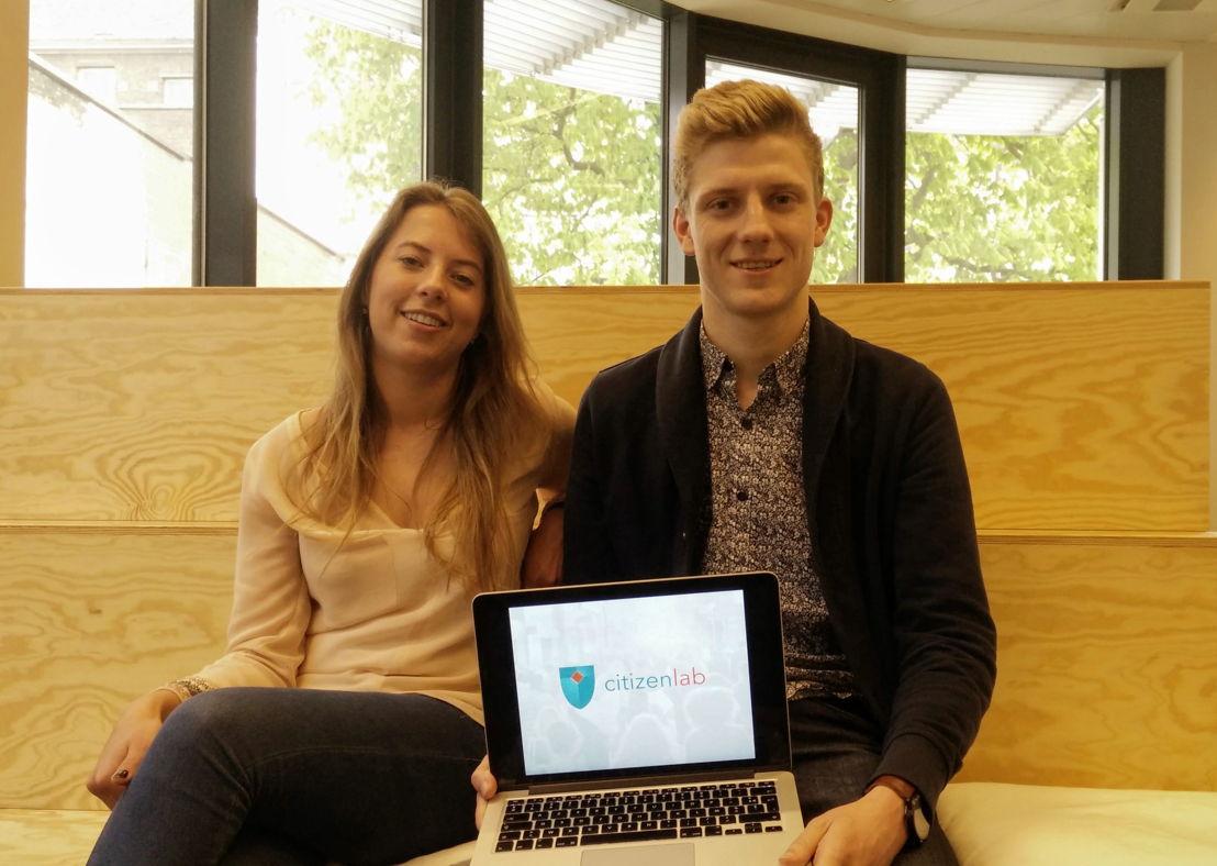 Founders Aline Muylaert en Wietse Van Ransbeeck
