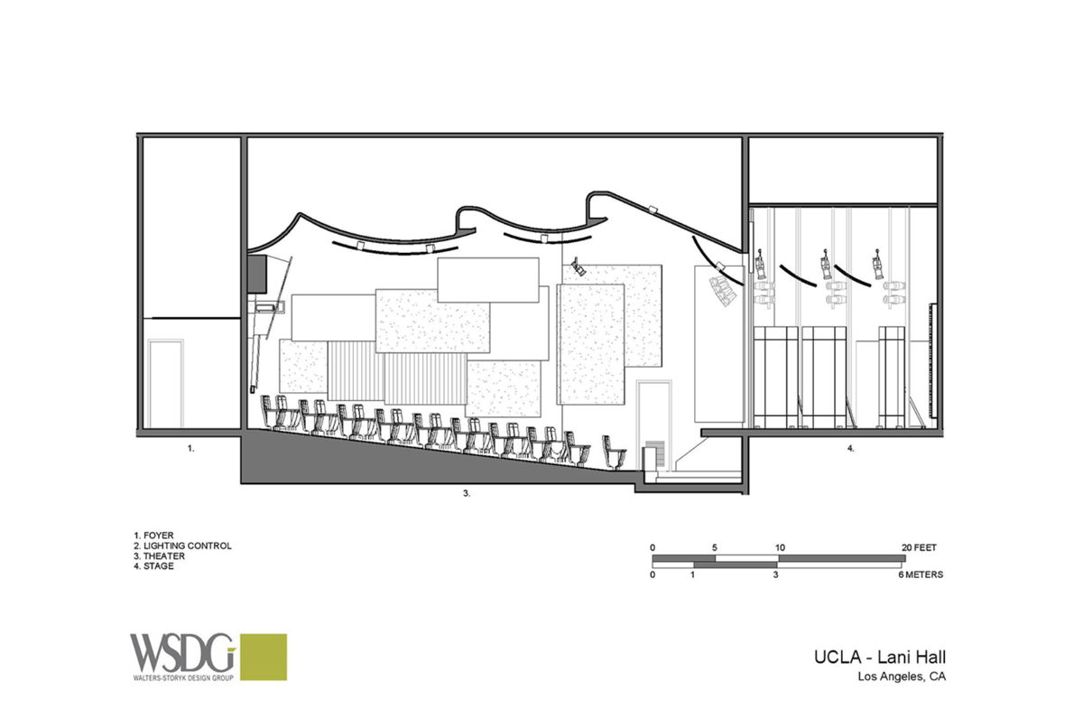 Lani Hall theater presentation drawing courtesy WSDG