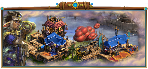 Summer event in Elvenar: The Air Traders are coming