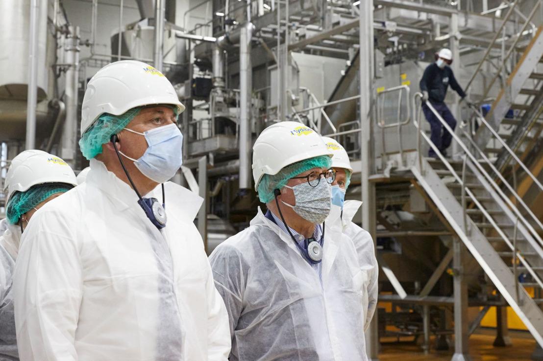 Mydibel gaat in samenwerking met Luminus voor een koolstofvrije vloot dankzij groene waterstof op basis van aardappelschillen