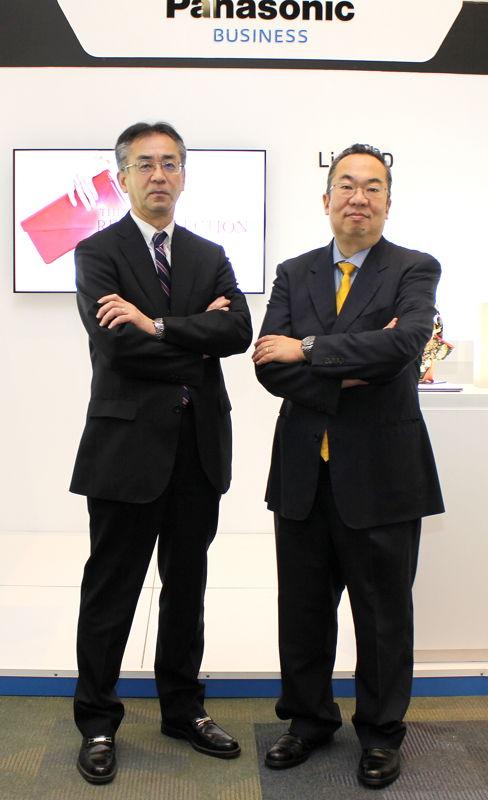 Yoshihiro Kanamaru, presidente Panasonic de México y Ken Tsutsumi, director Grupo Soluciones de Panasonic de México