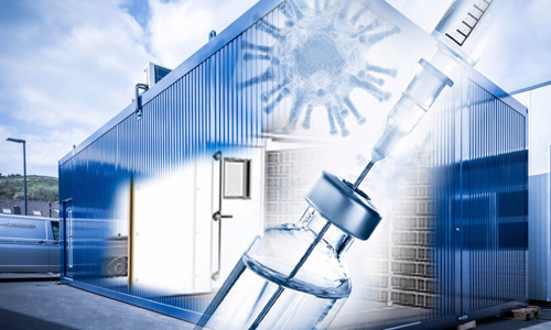 Cold containers for the Covid-19 vaccine