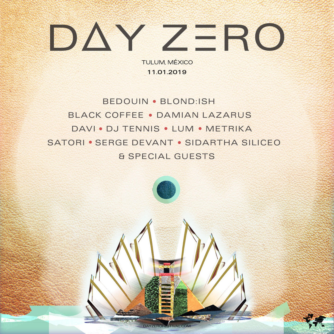 Day Zero Releases Lineup for 2019 Return to Tulum January 11th