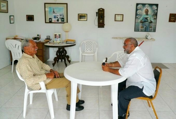 OECS Director General, Dr. Didacus Jules, meets with Anguilla Revolutionary Leader and first Chief Minister, Ronald Webster.