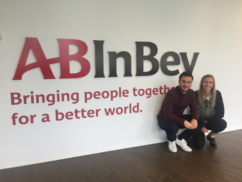 Two young AB InBev marketeers represent Belgium in the global Young Marketers Competition in Cannes