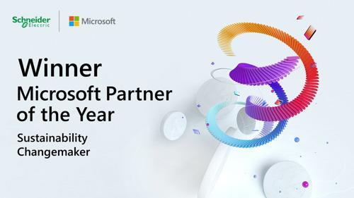 Schneider Electric bekroond met de 2021 Microsoft Sustainability Changemaker Partner of the Year Award
