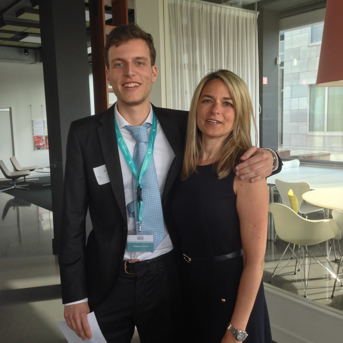 Mattias Losoli en Katrien Berghs, HR-directeur The Adecco Group Belgium