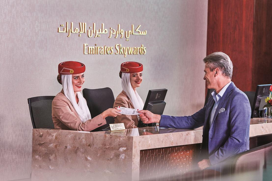 """برنامج """"سكاي واردز طيران الإمارات"""" لمكافأة ولاء المسافرين الدائمين يوفر للأعضاء مزيداً من الخيارات لاستبدال أميالهم."""