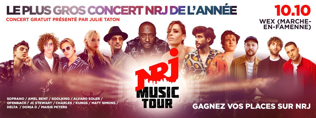 Le « NRJ Music Tour » revient en Belgique !