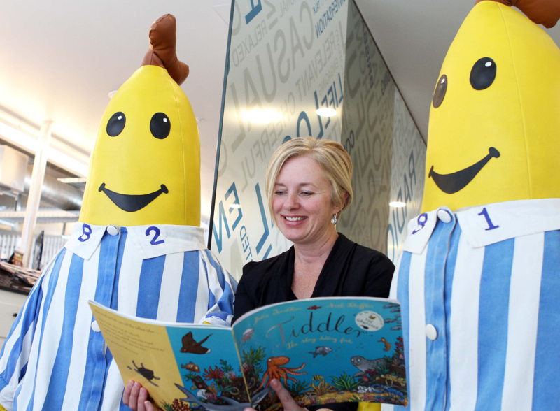 Drive Presenter, Emma Griffiths, brushing up her reading skills with B1 and B2.