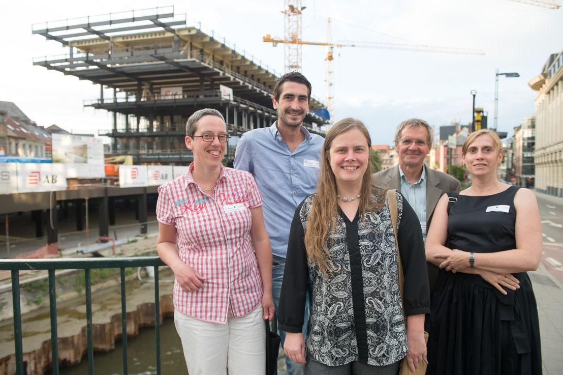 An Van Assche, Njord Van de Rostyne, Nadia Casier, Johan Hansens en Conny Verleye.