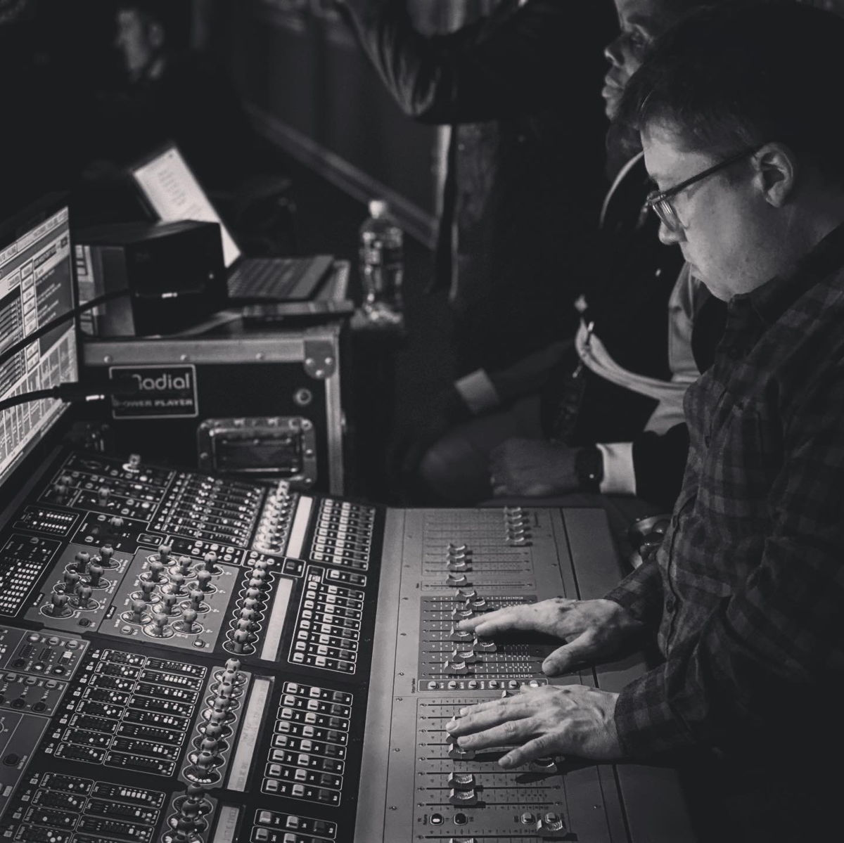 Sean Quackenbush, FOH for Brandi Carlile, mixing at FOH