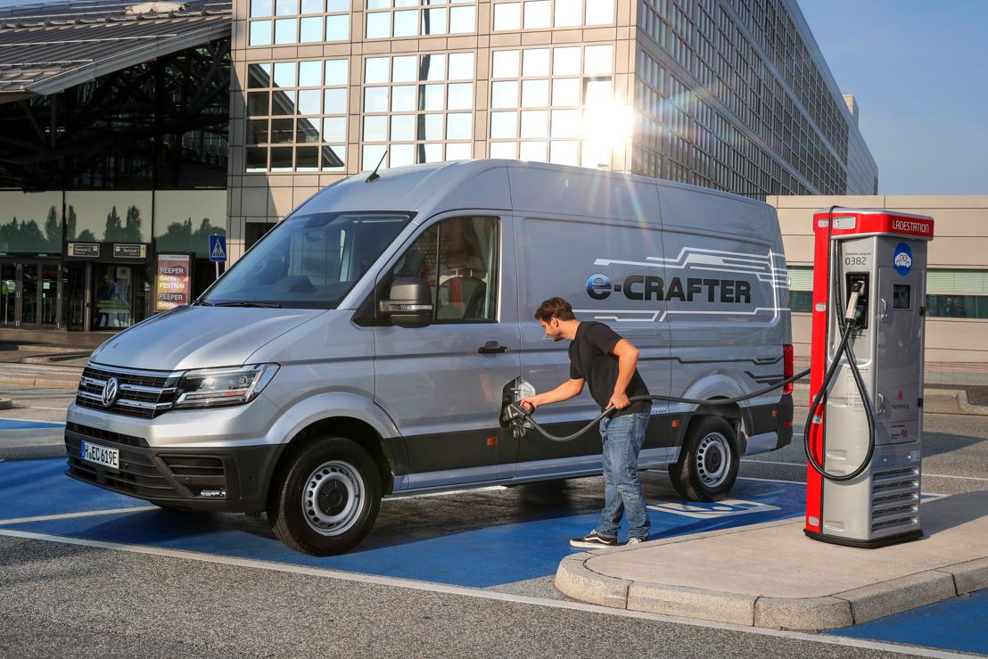 Volkswagen Bedrijfswagens introduceert emissieloze, volledig elektrische e-Crafter