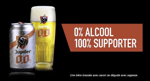Jupiler 0,0% fait un véritable tour de force pendant les matches Pro League: des bières gratuites tant que le score est 0-0