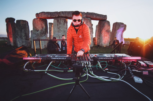 Paul Oakenfold performs a sunset set at Stonehenge in a historic first ever performance at the UK's Wonder of The World