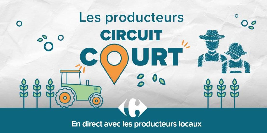 Les produits circuits courts chez Carrefour : des produits belges authentiques issus de petits producteurs situés dans un rayon de 40 kilomètres