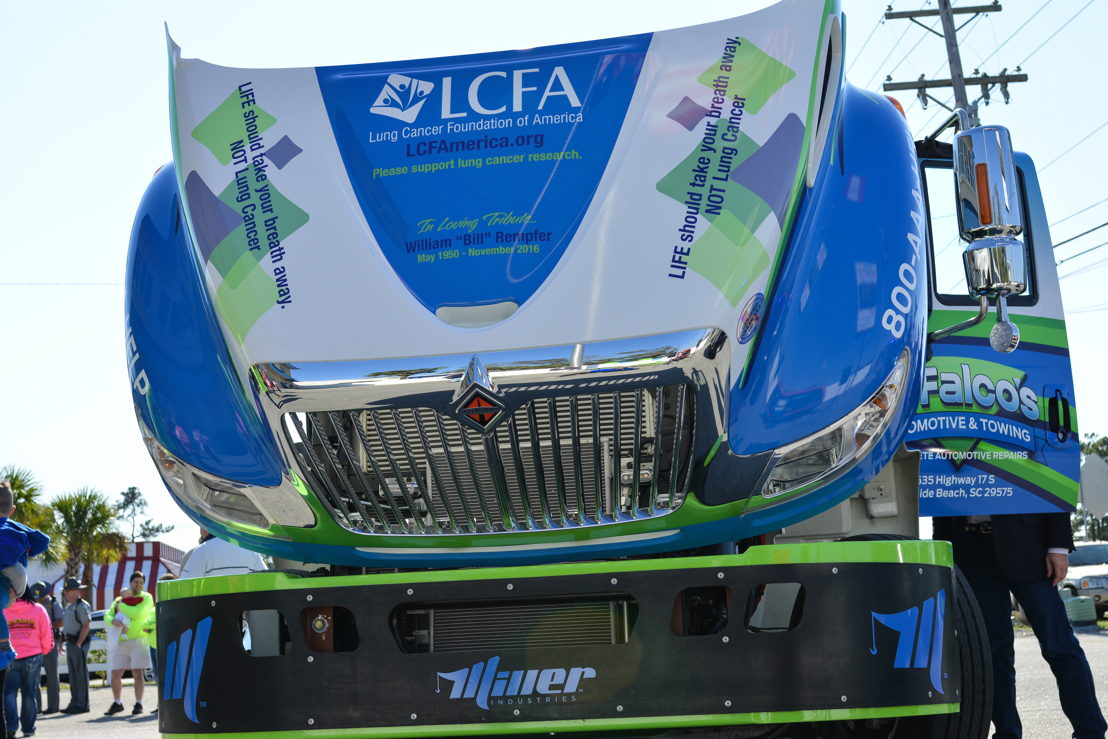 DeFalco's Automotive & Towing heavy tow truck with LCFA detailing
