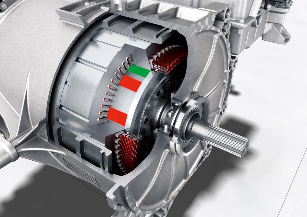 Taycan Turbo S: motor síncrono de imanes permanentes.