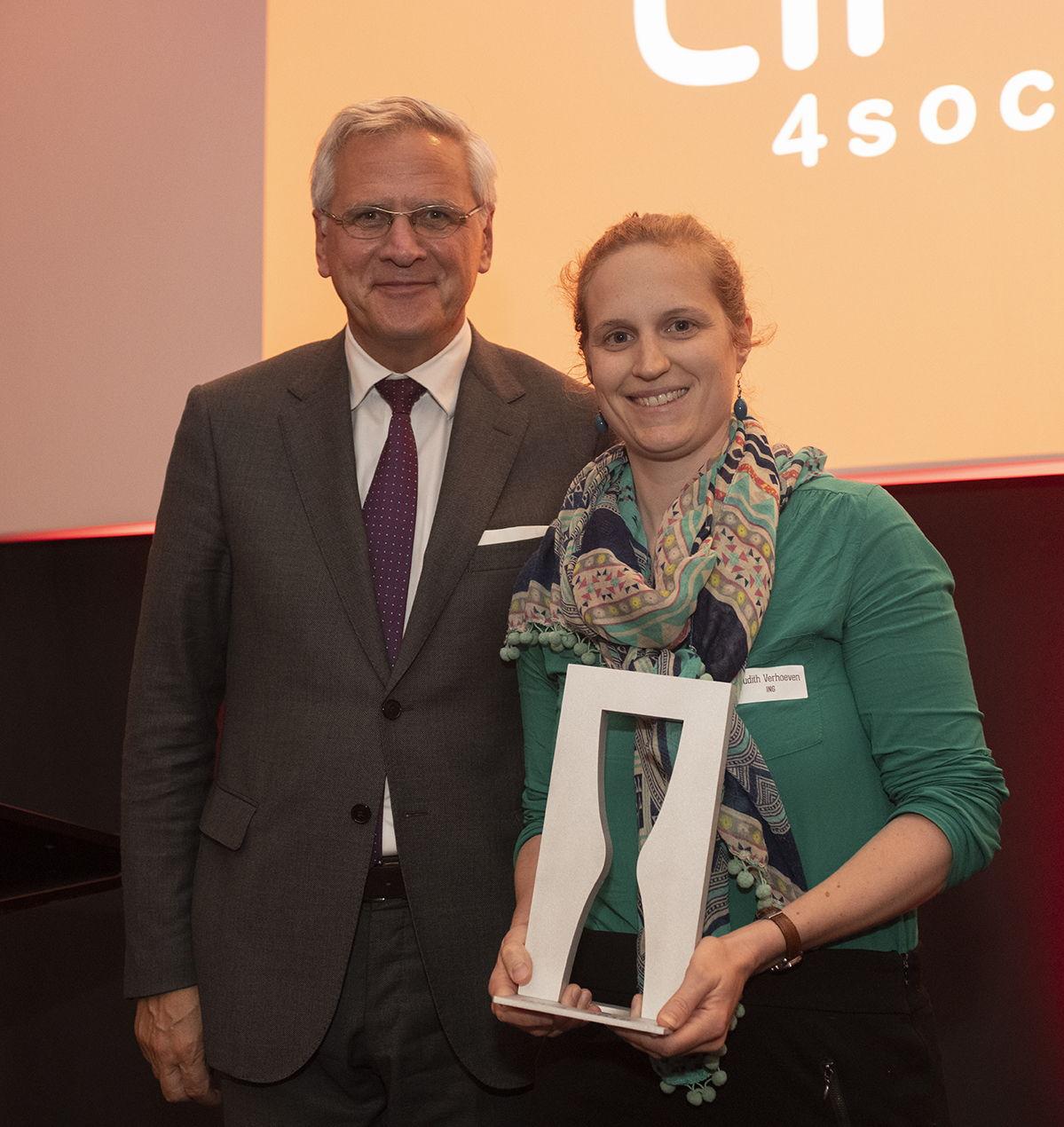 Vice-Premier Kris Peeters & Judith Verhoeven, Sustainability Expert ING België