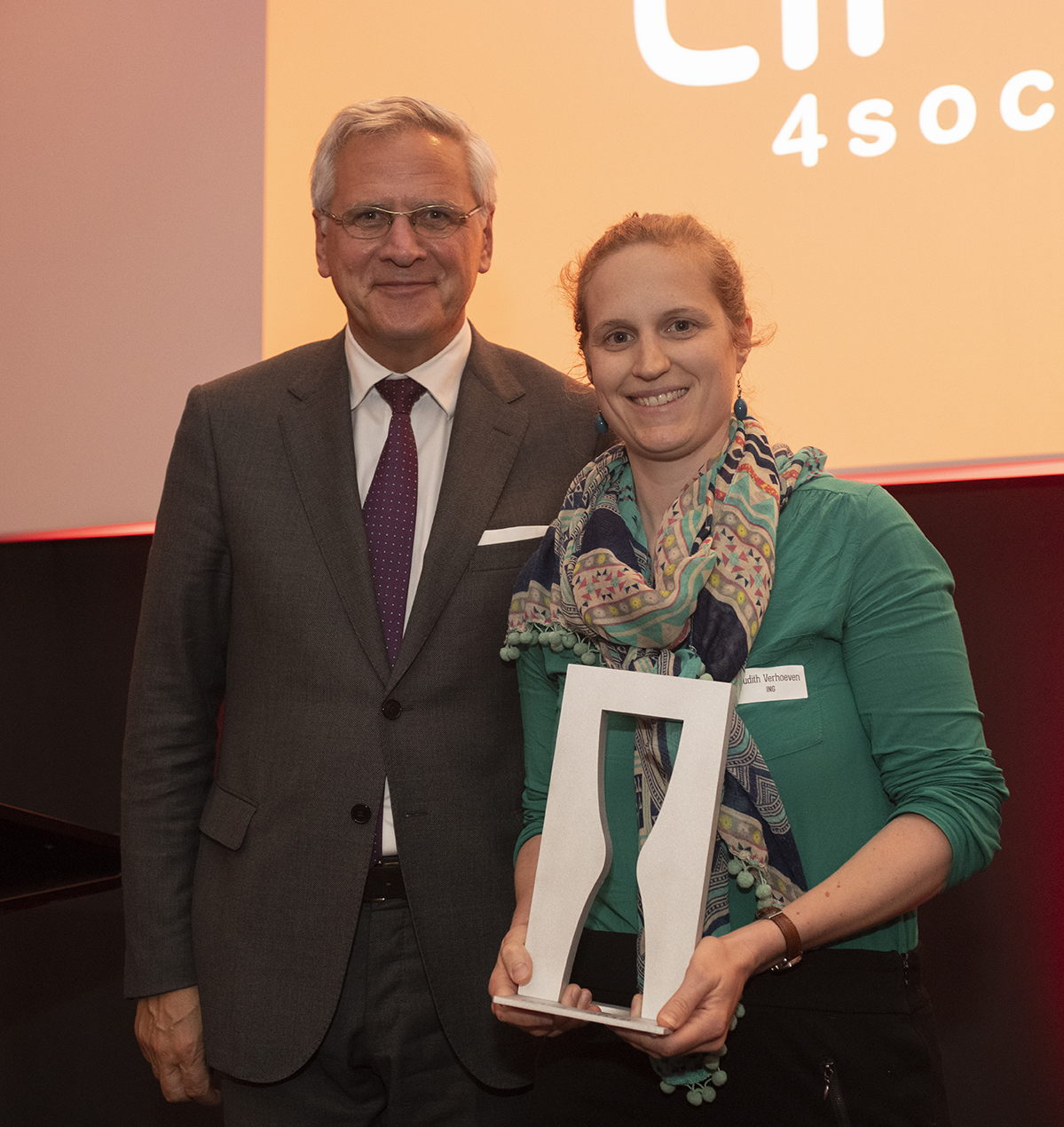 Vice-Premier Kris Peeters & Judith Verhoeven, Sustainability Expert ING Belgique