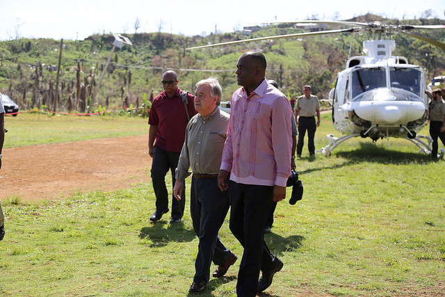 UN Secretary-General and Prime Minister of Dominica visit the Kalinago Territory.