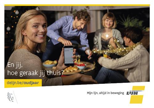 De Lijn brengt feestvierders in Vlaams-Brabant veilig thuis tijdens oud en nieuw