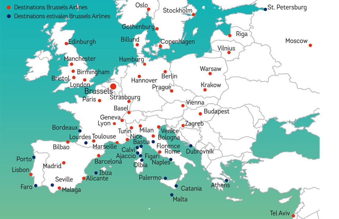 Brussels Airlines débute la saison d'été avec une forte croissance du nombre de ses passagers grâce à ses nouvelles destinations