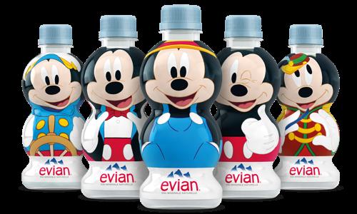 Met plezier water drinken dankzij evian®: Happy Birthday Mickey