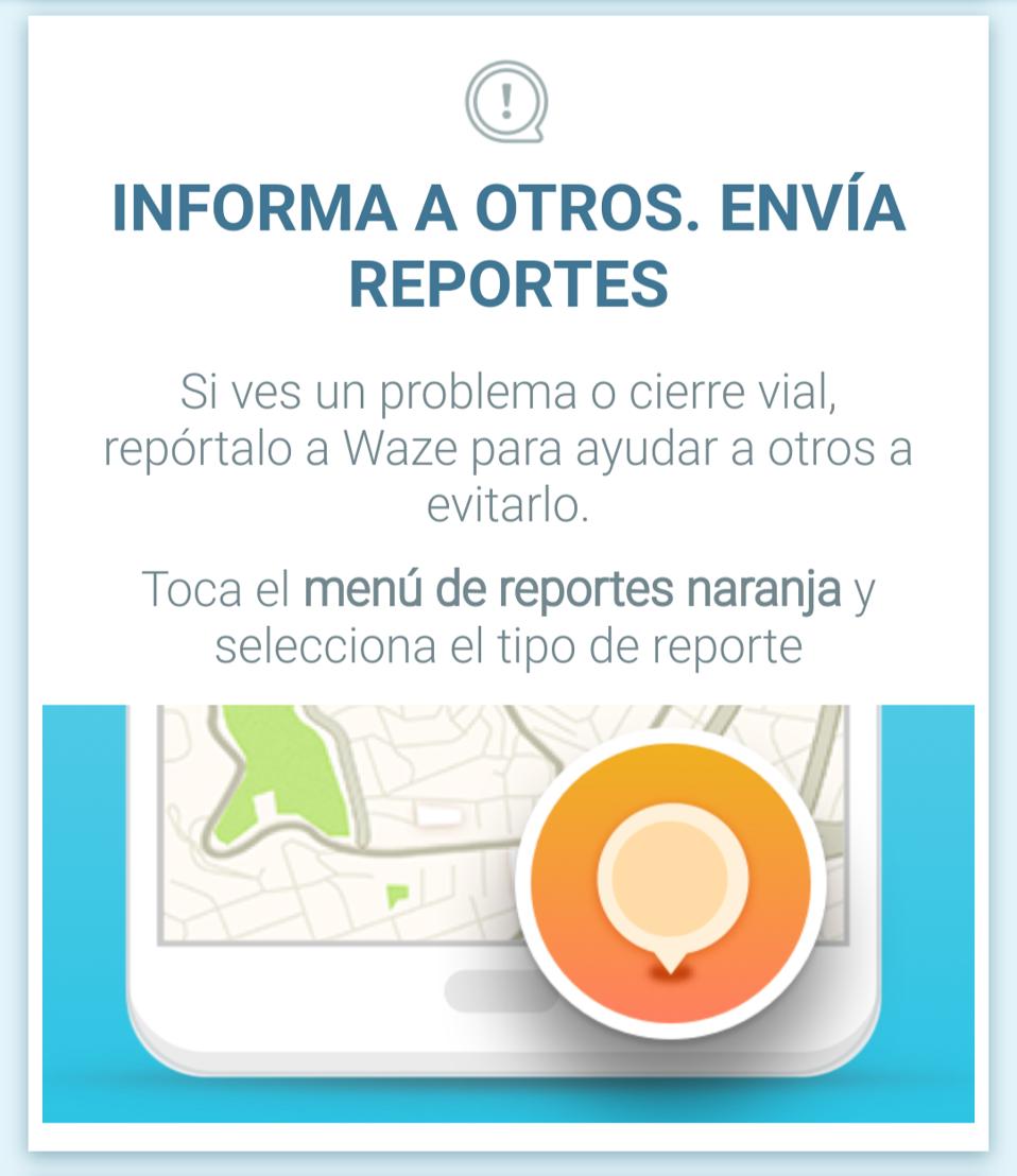 Informa a otros, envía reportes.
