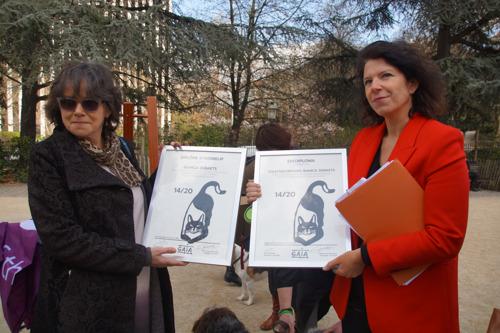 La Secrétaire d'État au Bien-être animal Bianca Debaets reçoit son rapport final de GAIA