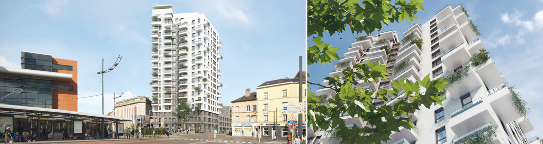 Re-Vive en BESIX realiseren EKLA, de vooruitstrevende woontoren in Brussel