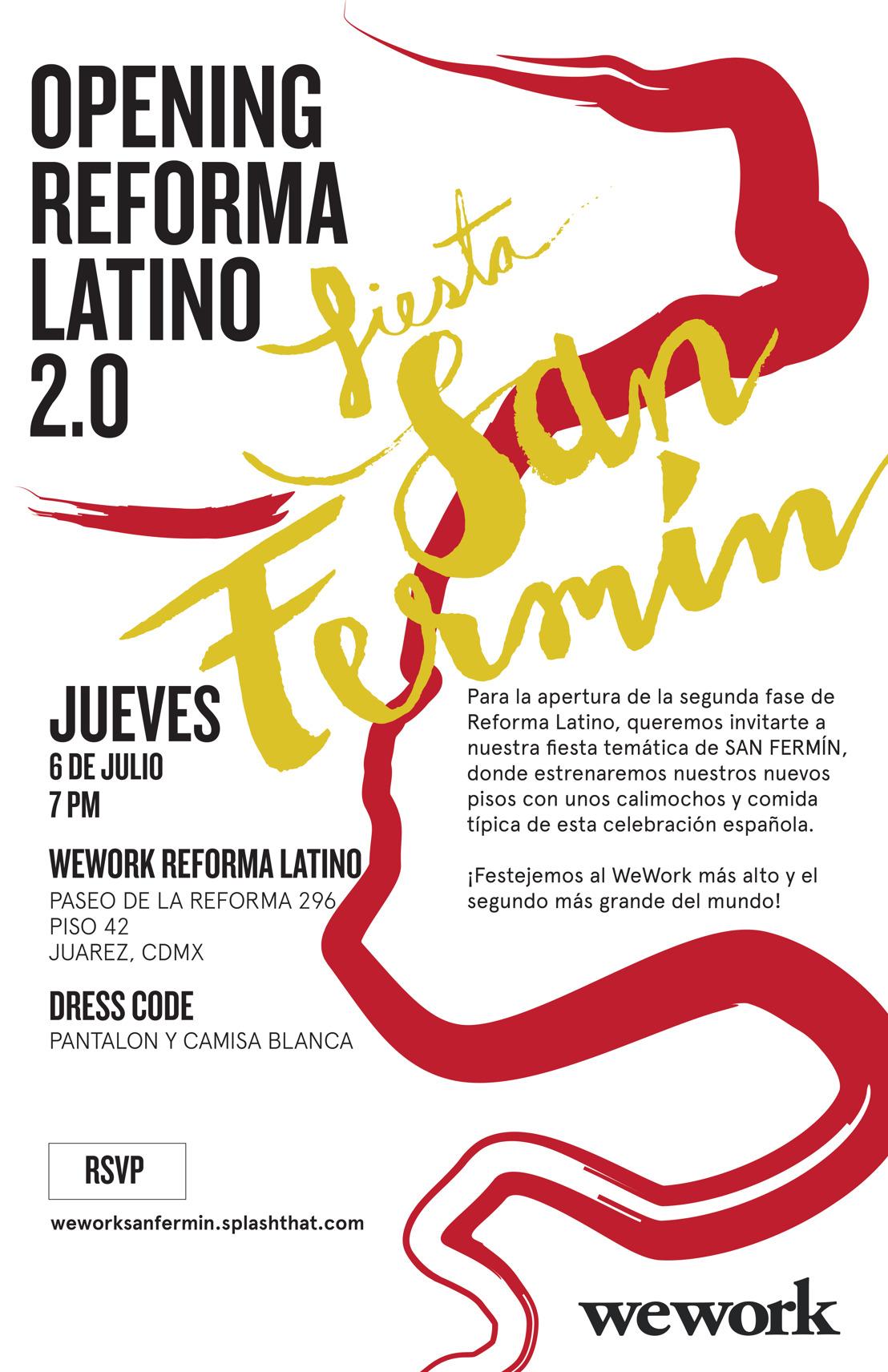 WeWork festeja los Sanfermines y Reforma Latino 2.0