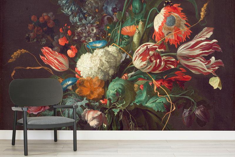 Vase of Flowers by De Heem