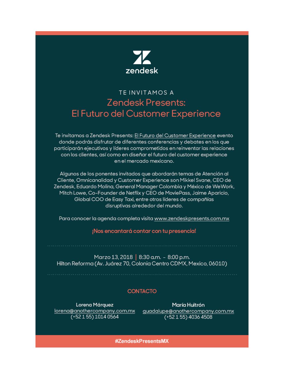 Zendesk Presents: El Futuro del Customer Experience