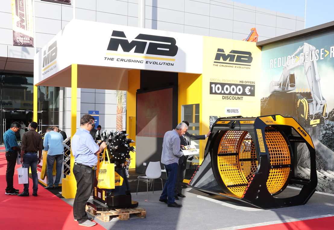 8. MB Crusher: the next generation.<br/>MB Crusher's new generation systems for crushing and recycling is on display at The Big 5 Heavy. Powerful, versatile and equipped with interchangeable modular panels, the MB screening Buckets adapt to all equipment screening requirements. Also on display, the Drum Cutters, the only cutters in the world to feature the Direct Twin Motor System! (Stand OS G30)