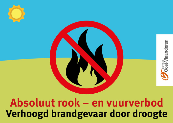 Rook- en vuurverbod in de provinciale domeinen en bosgebieden