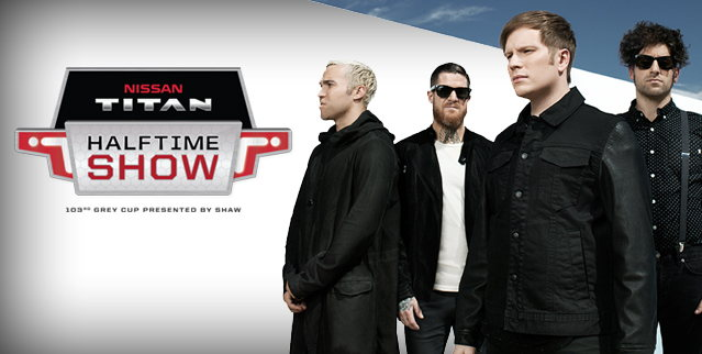 Fall Out Boy to rock the Nissan Titan Halftime Show at 103rd Grey Cup presented by Shaw.