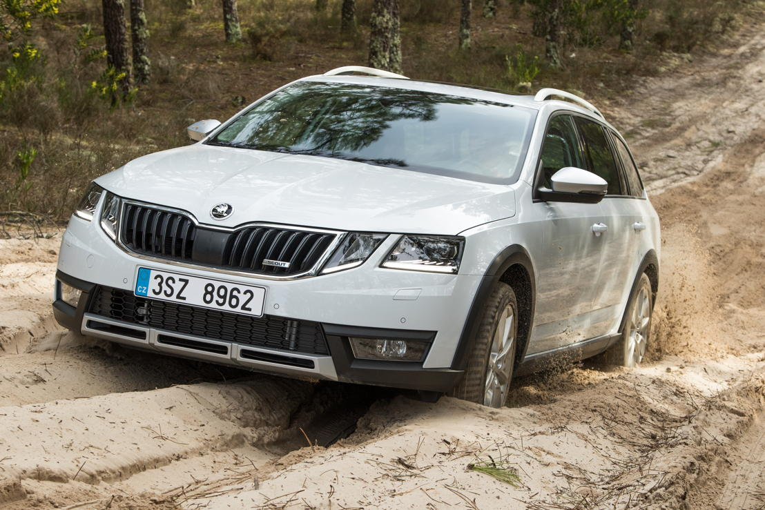 The ŠKODA OCTAVIA SCOUT is presented in a rugged off-road look. Due to its standard all-wheel drive, the increased ground clearance and the large approach and departure angles, the all-rounder also ensures driving pleasure off the beaten track. There is a choice of three powerful and efficient engines available.