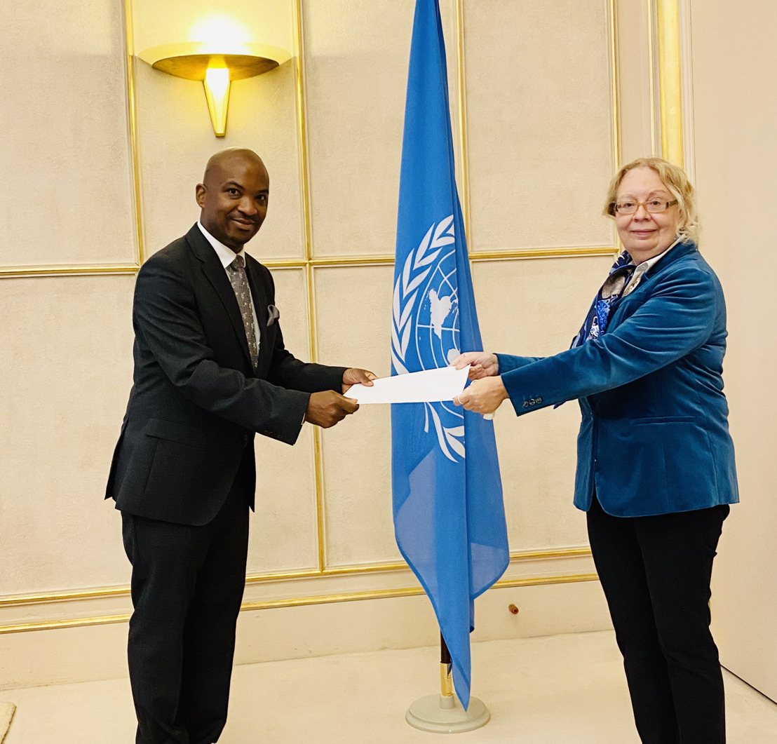 Head of the OECS Permanent Delegation to the United Nations in Geneva presents Credentials