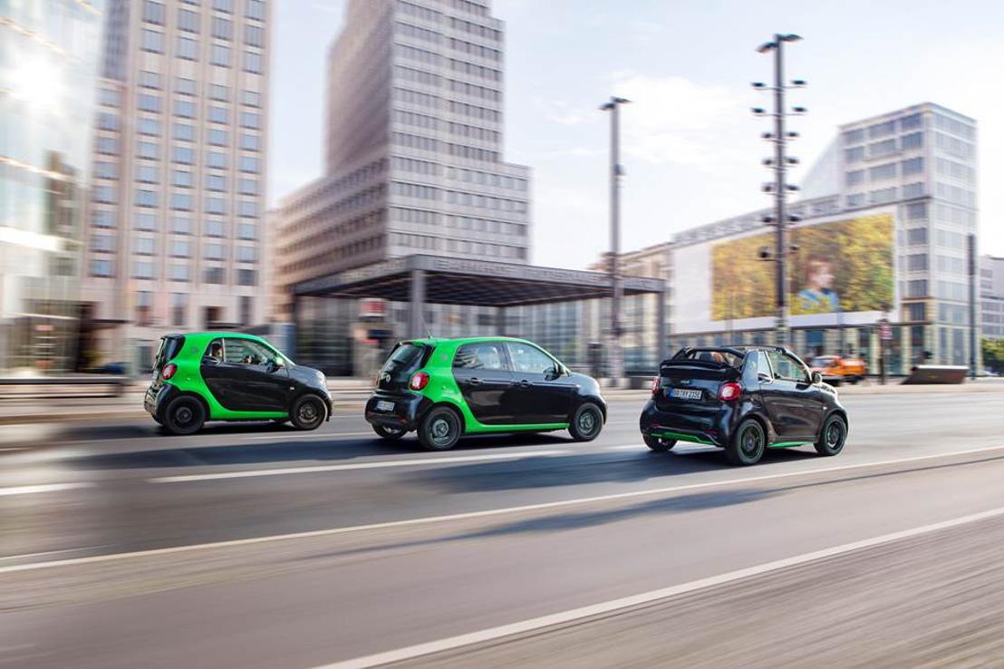 Ecologisch cruisen in de stad met de 'smart electric drive'!