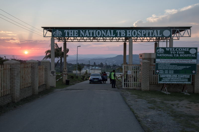 The entrance of the National TB Hospital. Moneni, Manzini Region, Swaziland. Photographer: Alexis Huguet