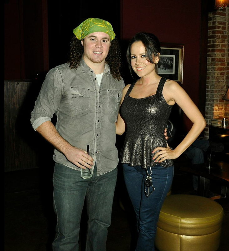 Singer/songwriter Dylan Holton and actress Sara Castro.