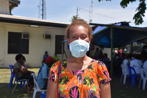 "Giakila was diagnosed with drug-resistant TB at Gerehu Hospital, Port Moresby, where MSF supports TB treatment and diagnosis.  Credit:  Sophie McNamara/MSF. Taken 21 November, 2017.  Additional: Giakila was five months' pregnant when she became seriously ill, and ended up losing her baby. She visited private hospitals where she was diagnosed with malaria and pneumonia, before coming to Gerehu Hospital, where MSF supports TB screening, treatment and diagnosis. ""Losing a child was very hard for me, and I really wanted to know what was going on with me. So we came to Gerehu clinic and they advised me that I had TB."" Giakila was diagnosed with multidrug-resistant TB, which involves two years of treatment including daily injections in the early stages. ""I was scared at first, because there were too many medicines that I was taking. But then it started helping me to recover some of the loss that I encountered, so I was happy taking these medicines."""