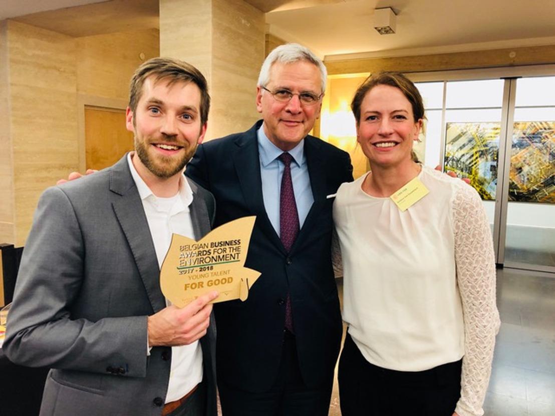 Antwerpse scale-up For Good winnaar op Belgian Business Awards for the Environment van VBO