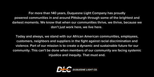 A Message from Duquesne Light