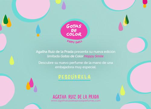AGATHA RUIZ DE LA PRADA - GOTAS DE COLOR HAPPY SMILE